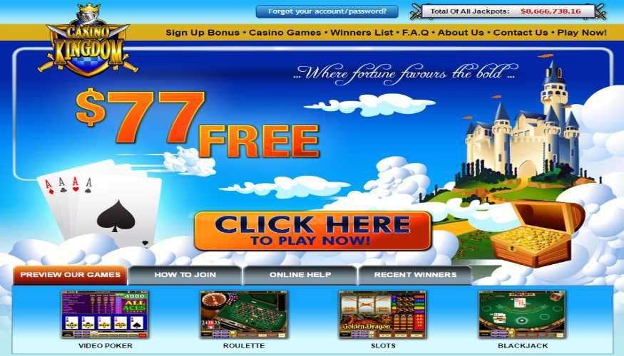 casino kingdom homepage