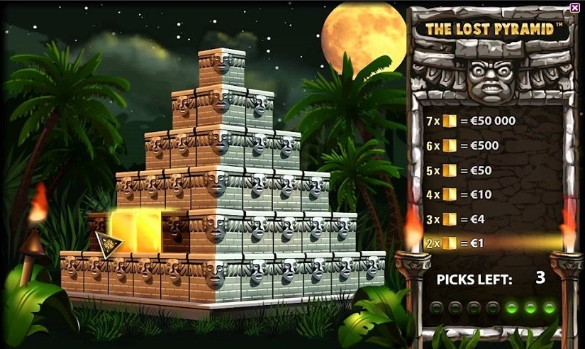 The Lost Pyramid Online Scratchcard Overview